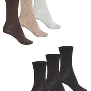 Six Pairs of  Frye Supersoft Crew Sock